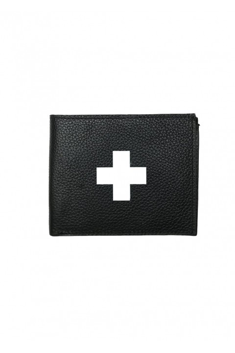 For Fun First Aid Leather Wallet Siyah