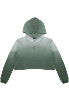 Bassigue - GREEN OMBRE WAFFLE HOODIE