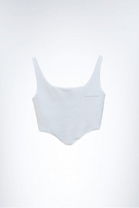 Muse and Mood Melpomene Bustier Offwhite