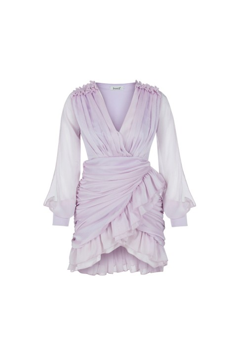 Bust2 Lila Draped Elbise